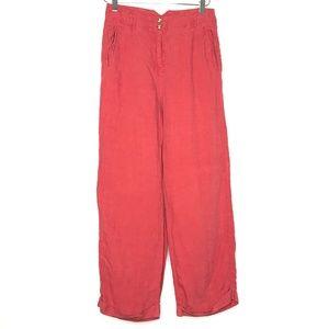 J. Jill Red Linen Casual Pants A040794